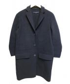 SOFIE DHOORE(ソフィードール)の古着「ラムウールチェスターコート」|ネイビー