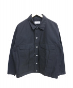 EN ROUTE(アンルート)の古着「コットンナイロングログランショートジャケット」|ブラック
