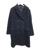 Paul Smith BLACK(ポールスミスブラック)の古着「ロングダブルコート」|ブラック