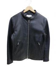 BEAUTY&YOUTH(ビューティアンドユース)の古着「ラムレザーシングルライダースジャケット」|ブラック