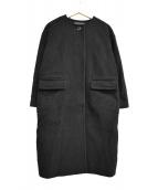 FRAMeWORK(フレームワーク)の古着「ノーカラーコート」|ブラック