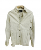 SHELLAC(シェラック)の古着「レザーシャツ」 ベージュ