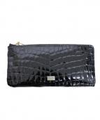 LANVIN(ランバン)の古着「ラウンドファスナー長財布」|ブラック
