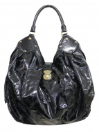 LOUIS VUITTON(ルイ・ヴィトン)の古着「パテントレザーハンドバッグ」|ブラック