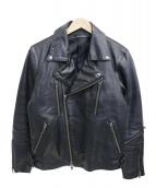 Haruf(ハルフ)の古着「ホースレザーレザージャケット」|ブラック