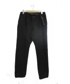GRAMICCI(グラミチ)の古着「ネル起毛ジョガーパンツ」|ブラック