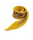 HERMES(エルメス)の古着「プリースシルクスカーフ」|イエロー