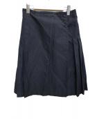 MARGARET HOWELL(マーガレットハウエル)の古着「リネン混プリーツスカート」