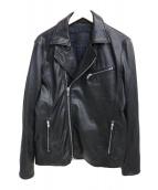 ESTNATION(エストネーション)の古着「ラムレザーダブルライダースジャケット」|ブラック