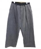 THE Sakaki(ザ サカキ)の古着「SEMI WIDE PANTS」|グレー