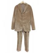 Santaniello(サンタニエッロ)の古着「コットン太畝コーデュロイ3Bセットアップ」 ブラウン