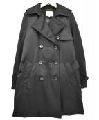 BEAUTY&YOUTH(ビューティーアンドユース)の古着「ダウントレンチコート」|ブラック