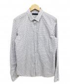 BURBERRY PRORSUM(バーバリープローサム)の古着「総柄シャツ」 アイボリー×ブラック