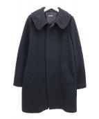 ZUCCA(ズッカ)の古着「メルトンロングコート」|ブラック