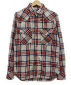 Hysteric Glamour(ヒステリックグラマ)の古着「チェックネルシャツ」|アイボリー×レッド×ブルー