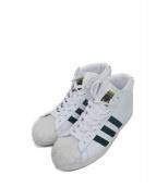 adidas(アディダス)の古着「ミッドカットスニーカー」|ホワイト×グリーン