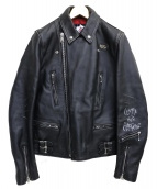 COMME des GARCONS×Lewis Leathers(コムデギャルソン×ルイスレザー)の古着「Live Free Die Lightning Jacket」|ブラック