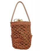 Capaf(カパフ)の古着「ファー装飾ハンドバッグ」 ブラウン