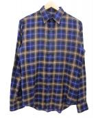 N.HOOLYWOOD(エヌハリウッド)の古着「コンパイルラインチェックシャツ」|ネイビー×ベージュ