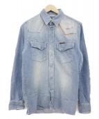 Hysteric Glamour(ヒステリックグラマ)の古着「刺繍デニムシャツ」|インディゴ