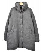 FIDELITY(フィデリティ)の古着「ショールカラーダウンコート」|グレー