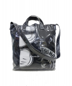 COMME des GARCONS SHIRT(コムデギャルソンシャツ)の古着「PVC messenger tote T shirts」