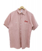 COOTIE(クーティー)の古着「ヒッコリーS/Sシャツ」 レッド