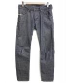 DIESEL(ディーゼル)の古着「デニムパンツ」|ブラック
