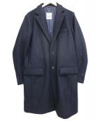 SHIPS(シップス)の古着「HAMILTON LAMBSWOOLメルトンシングルPコート」|ブラック