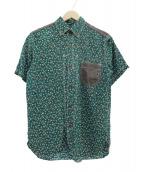 JUNYA WATANABE CdG MAN(ジュンヤワタナベ コムデギャルソン マン)の古着「フラワープリントS/Sシャツ」|グリーン