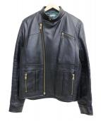 kolor/BEACON(カラービーコン)の古着「ダブルライダースジャケット」 ブラック