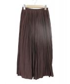 Spick and Span(スピック アンド スパン)の古着「ロングギャザースカート」|パープル