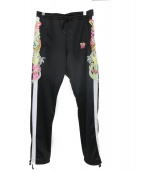 doublet(ダブレット)の古着「CHAOS EMBROIDERY TRACK PANTS」|ブラック