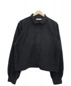 ETHOS(エトス)の古着「パフスリーブジャケット」|ブラック