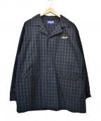 Lafayette(ラファイエット)の古着「パジャマジャケット」|ネイビー×グリーン