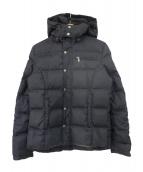 DIESEL(ディーゼル)の古着「フーデッドダウンジャケット」|ブラック