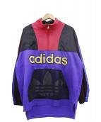adidas(アディダス)の古着「ハーフジップスウェット」|マルチカラー