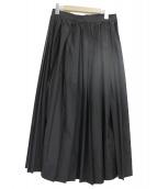 MACPHEE(マカフィー)の古着「ポリエステルラメロングプリーツスカート」|ブラック