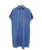 BLUE BLUE(ブルーブル)の古着「シャツワンピース」|インディゴ