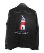 THE WHO(ザ・フー)の古着「袖レザースタジャン」|ブラック