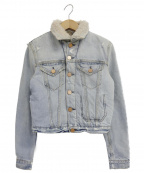 Acne(アクネ)の古着「ボアデニムジャケット」|インディゴ
