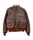 Buzz Ricksons(バズリクソンズ)の古着「TYPE A-2 JACKET(HORSE HIDE)」 ブラウン
