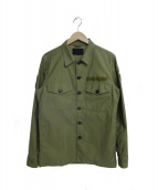 junhashimoto(ジュンハシモト)の古着「ファティーグシャツ」|セージグリーン