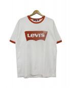 eYe COMME des GARCONS JUNYAWATANABE MAN(アイ コムデギャルソン ジュンヤワタナベマン)の古着「Levis Tシャツ」|ホワイト×オレンジ