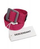 DESCENDANT(ディセンダント)の古着「WEBBING BELT」|ショッキングピンク