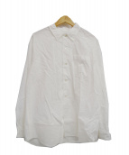 PHIGVEL(フィグベル)の古着「シアサッカーボタンダウンシャツ」 ホワイト