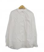 PHIGVEL(フィグベル)の古着「シアサッカーボタンダウンシャツ」|ホワイト