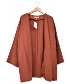 UNGRID(アングリッド)の古着「リネン混ショートガウン」 ブラウン