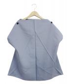 132 5. ISSEY MIYAKE(132 5. イッセイ ミヤケ)の古着「デザインプルオーバーブラウス」|ブルー