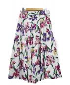 Lois CRAYON(ロイスクレヨン)の古着「花柄スカート」|ホワイト×パープル